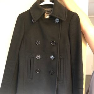 J.crew pea coat wool
